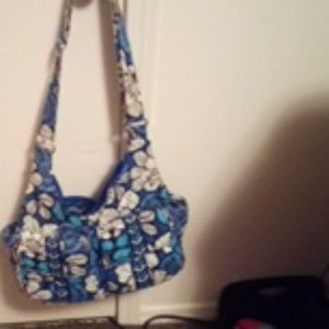 Vera Bradley cotton hobo-type bag
